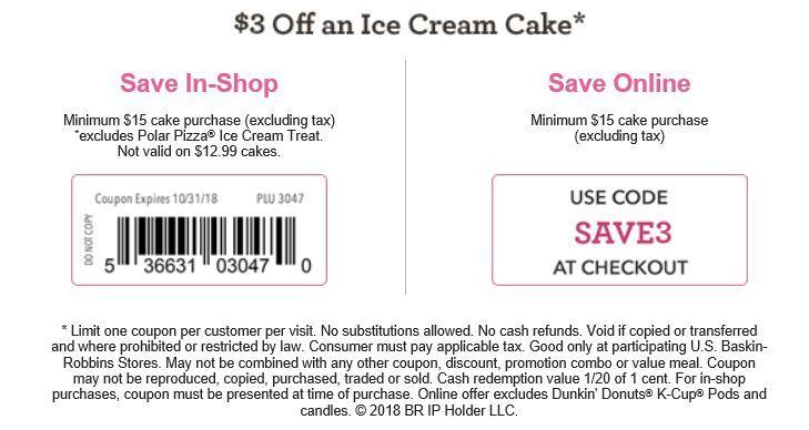 photo regarding Baskin Robbins Printable Coupons named Baskin Robbins Coupon codes -