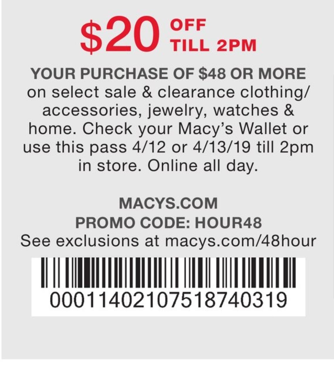 macys $20 off $50 printable coupon 2019