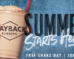 Free Shake at Wayback Burgers on June 21