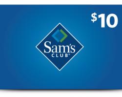 Sam's Club Members: Free $10 Sam's Club eGift Card