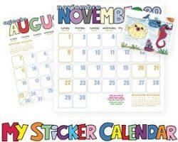 Free Sticker Calendar For Kids From Txaccess