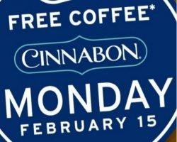 Free Coffee & Minibon Roll At Cinnabon