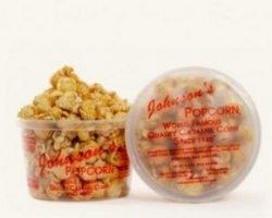 Free Johnson's Caramel Popcorn Party Favor