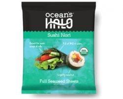 Free Bag Of Ocean's Halo Organic Seaweed Sheets